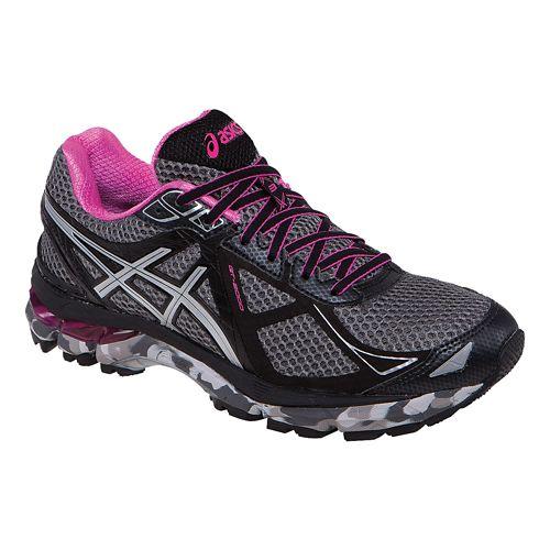 Womens ASICS GT-2000 3 Trail Trail Running Shoe - Charcoal/Pink 7