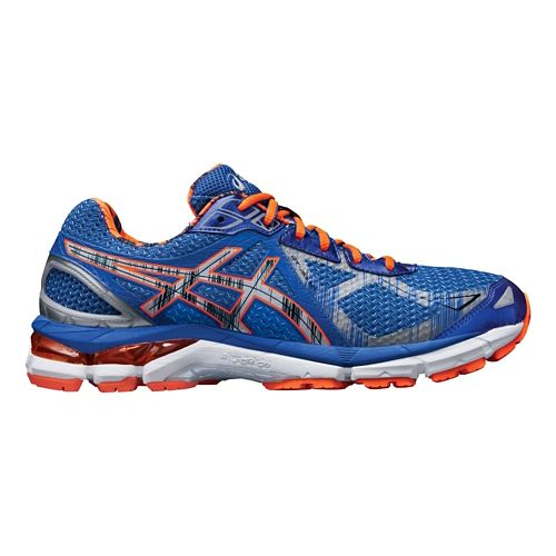Mens ASICS GT-2000 3 Lite-Show Running Shoe - Blue/Orange 8.5