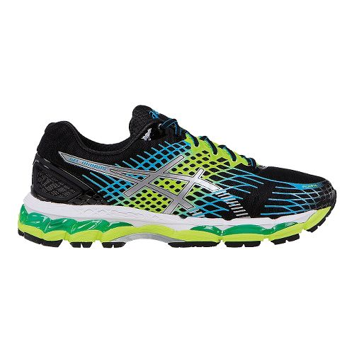 Mens ASICS GEL-Nimbus 17 Running Shoe - Onyx/Flash Yellow 14