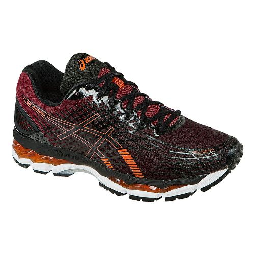 Mens ASICS GEL-Nimbus 17 Running Shoe - Black/Orange 10