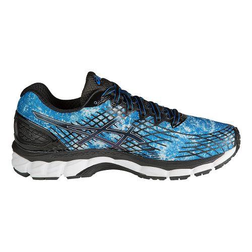 Mens ASICS GEL-Nimbus 17 Running Shoe - Blue/Black 10.5