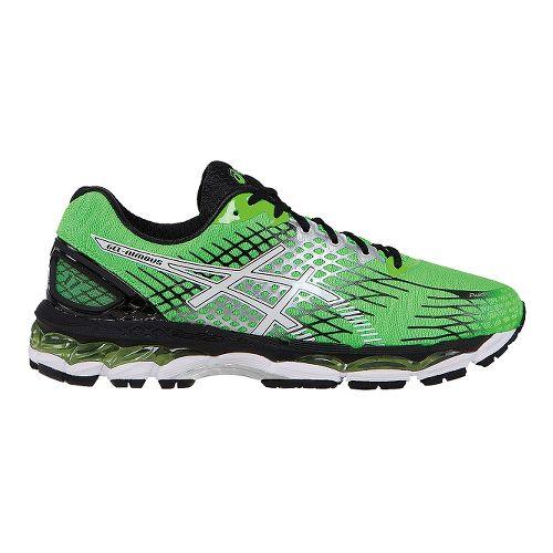 Mens ASICS GEL-Nimbus 17 Running Shoe - Green/Black 12