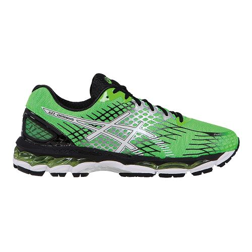 Mens ASICS GEL-Nimbus 17 Running Shoe - Green/Black 14