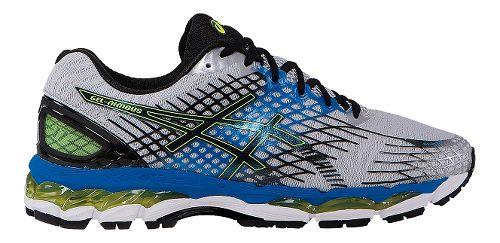 Mens ASICS GEL-Nimbus 17 Running Shoe - Grey/Blue 8