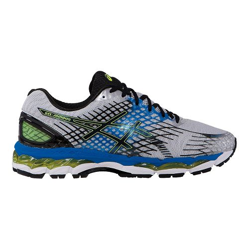 Mens ASICS GEL-Nimbus 17 Running Shoe - Grey/Blue 8.5