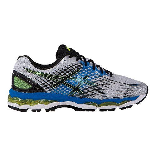 Mens ASICS GEL-Nimbus 17 Running Shoe - Onyx/Flash Yellow 6.5