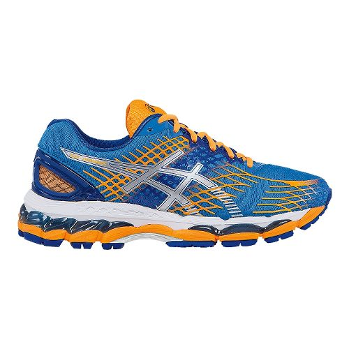 Womens ASICS GEL-Nimbus 17 Running Shoe - Powder Blue/Orange 8.5