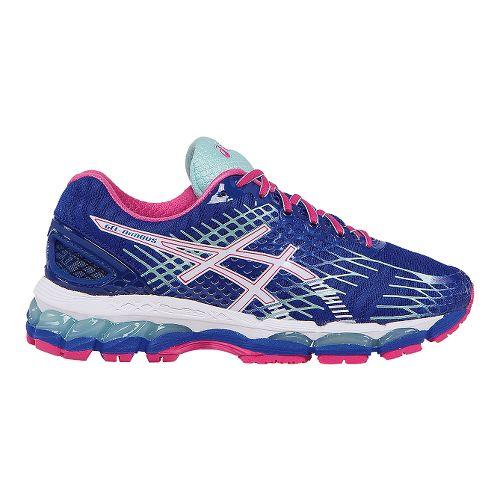 Womens ASICS GEL-Nimbus 17 Running Shoe - Deep Blue/Pink 8