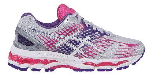 Womens ASICS GEL-Nimbus 17 Running Shoe - Grey/Pink 6