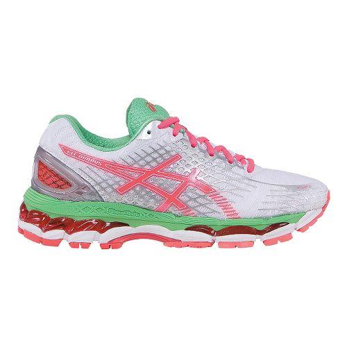 Womens ASICS GEL-Nimbus 17 Running Shoe - White/Pink 11