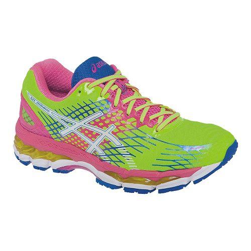 Womens ASICS GEL-Nimbus 17 Running Shoe - Yellow/Pink 9.5