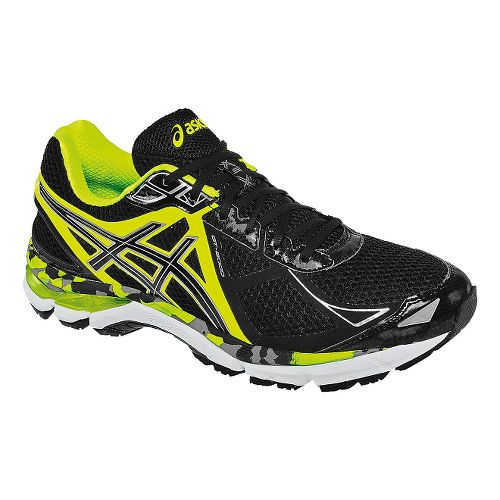 Mens ASICS GT-2000 3 Running Shoe - Black/Flash Yellow 17