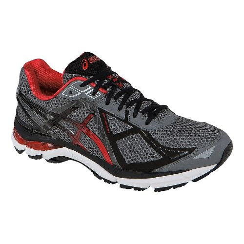 Mens ASICS GT-2000 3 Running Shoe - Grey/Red 11.5