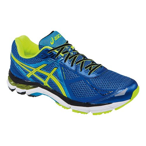 Mens ASICS GT-2000 3 Running Shoe - Blue/Flash Yellow 11