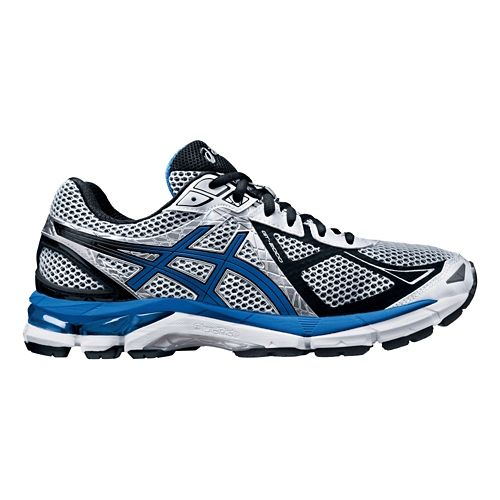 Mens ASICS GT-2000 3 Running Shoe - White/Royal 8
