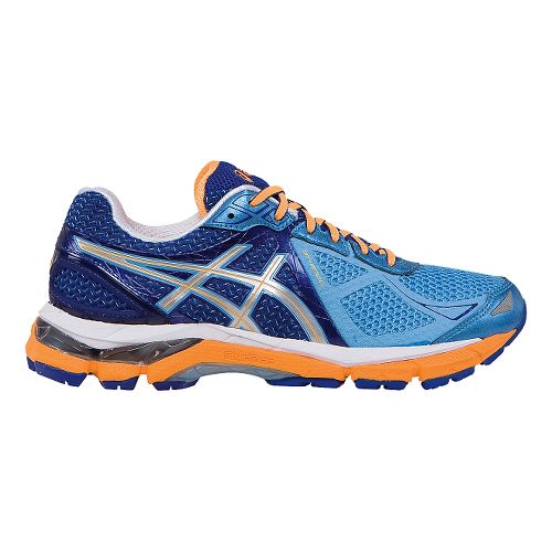 Womens ASICS GT-2000 3 Running Shoe - Blue/Orange 5