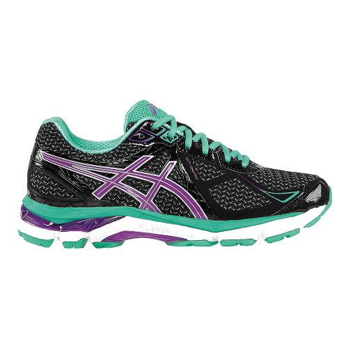 Womens ASICS GT-2000 3 Running Shoe - Black/Mint 9.5