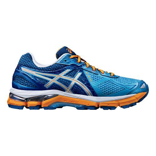 Womens ASICS GT-2000 3 Running Shoe - Blue/Orange 7.5