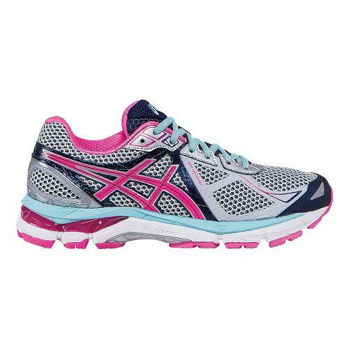 Womens ASICS GT-2000 3 Running Shoe - Grey/Pink 7.5