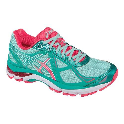 Womens ASICS GT-2000 3 Running Shoe - Mint/Pink 8.5