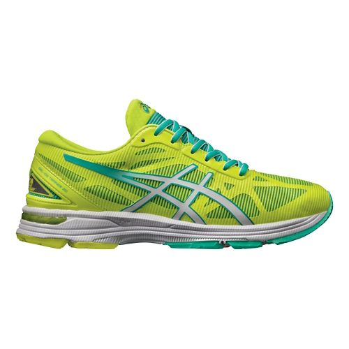 Womens ASICS GEL-DS Trainer 20 Running Shoe - Yellow/White 8.5