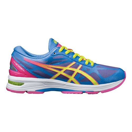 Womens ASICS GEL-DS Trainer 20 Running Shoe - Blue/Pink 5