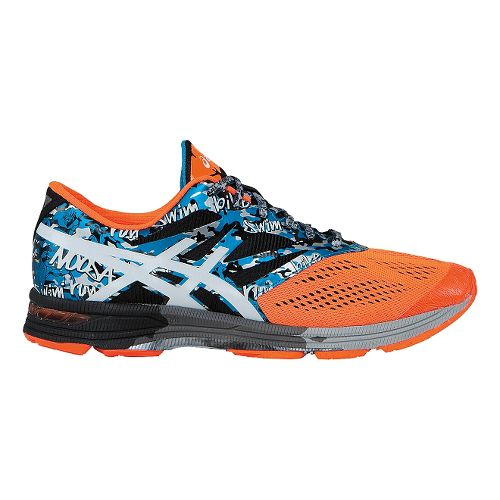 Mens ASICS GEL-Noosa Tri 10 Running Shoe - Onyx/Flash Orange 10