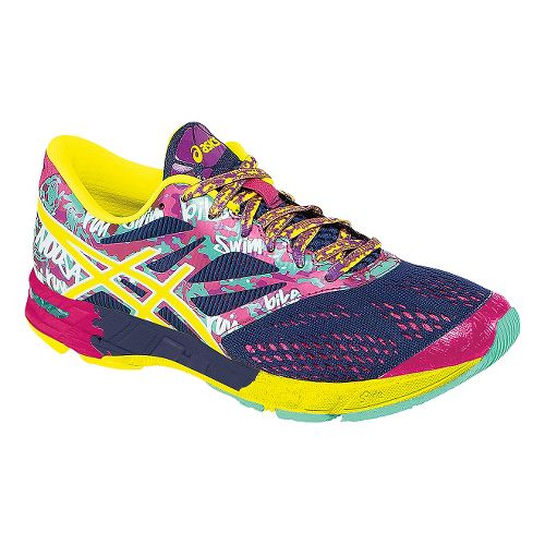 Womens ASICS GEL-Noosa Tri 10 Running Shoe - Navy/Flash Yellow 8