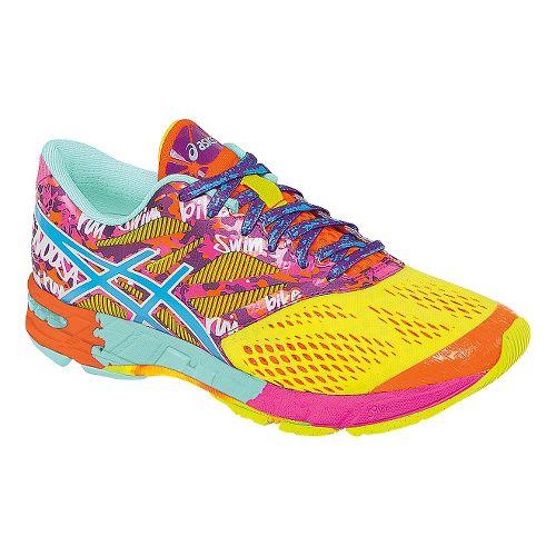 Womens ASICS GEL-Noosa Tri 10 Running Shoe - Yellow/Pink 13