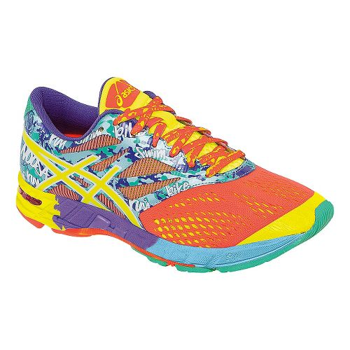 Womens ASICS GEL-Noosa Tri 10 Running Shoe - Coral/Yellow 9.5