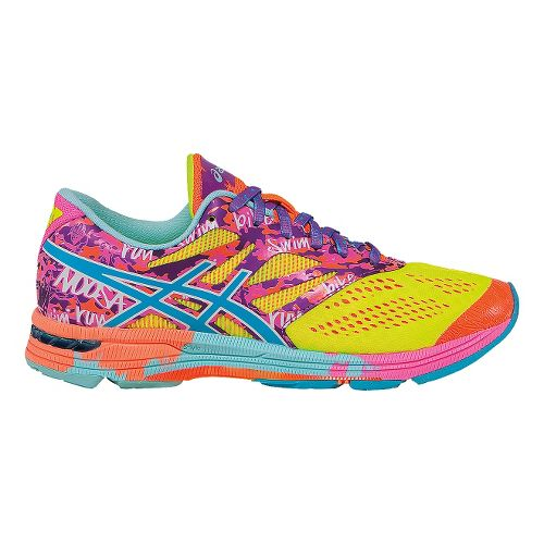 Womens ASICS GEL-Noosa Tri 10 Running Shoe - Yellow/Pink 10.5