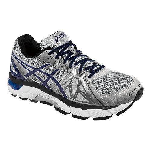 Mens ASICS GEL-Fortify Running Shoe - Grey/Navy 12.5