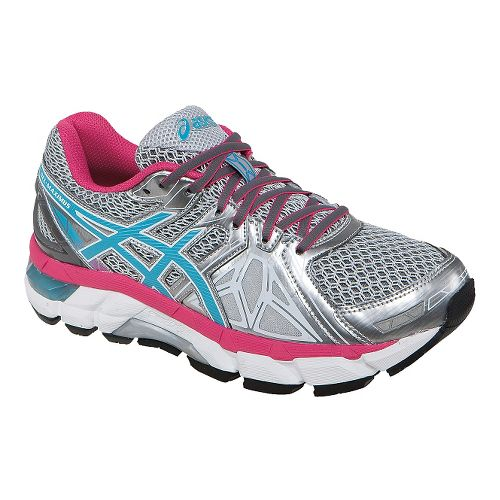 Womens ASICS GEL-Fortify Running Shoe - Grey/Turquoise 12.5