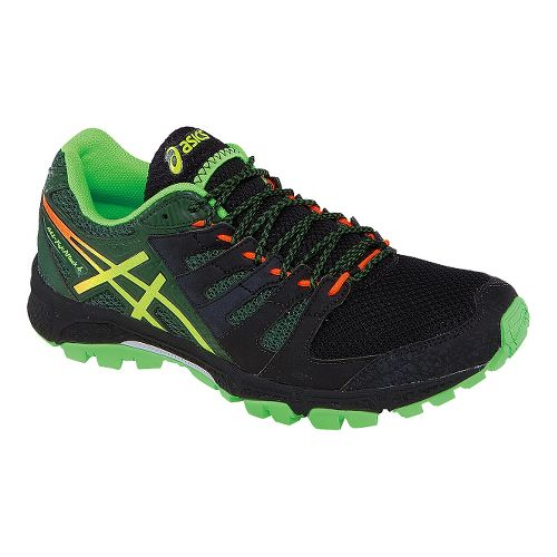 Mens ASICS GEL-FujiAttack 4 Trail Running Shoe - Black/Green 10.5