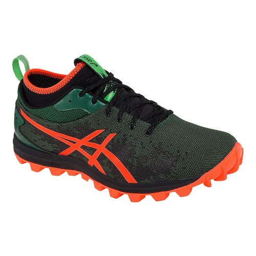 Mens ASICS GEL-FujiRunnegade Trail Running Shoe - Green/Orange 7.5