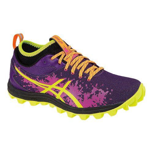 Womens ASICS GEL-FujiRunnegade Trail Running Shoe - Purple/Yellow 5.5