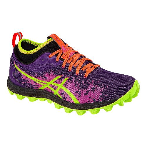 Womens ASICS GEL-FujiRunnegade Trail Running Shoe - Purple/Yellow 9.5