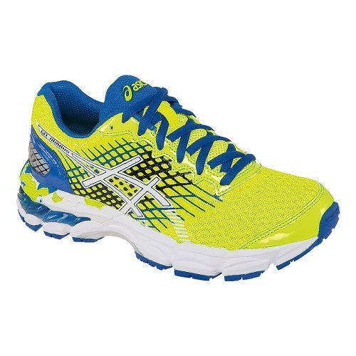 Kids ASICS GEL-Nimbus 17 GS Running Shoe - Yellow/Blue 2.5