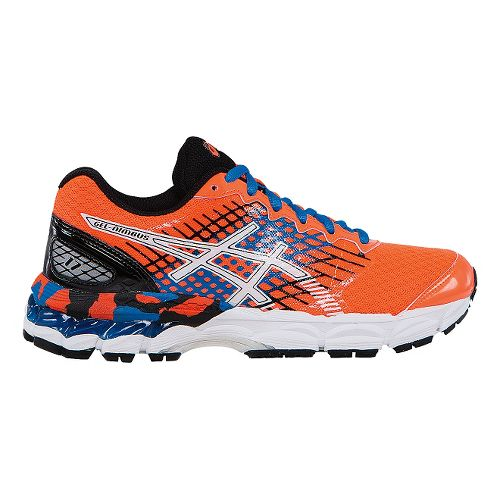 Kids ASICS GEL-Nimbus 17 GS Running Shoe - Orange/Blue 5