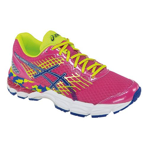 Kids ASICS GEL-Nimbus 17 GS Running Shoe - Pink/Yellow 1.5