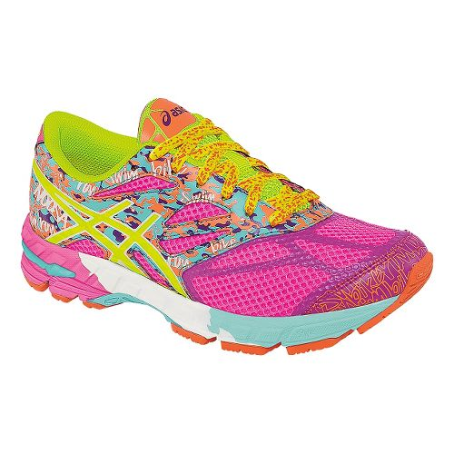 Kids ASICS GEL-Noosa Tri 10 GS Running Shoe - Hot Pink/Yellow 4