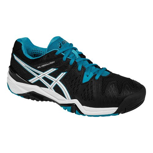 Mens ASICS GEL-Resolution 6 Court Shoe - Black/White 9.5