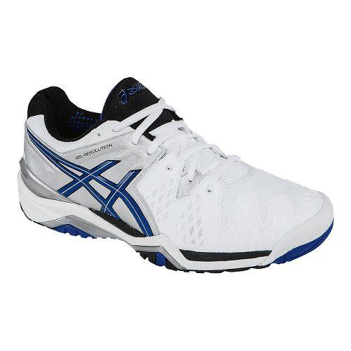 Mens ASICS GEL-Resolution 6 Court Shoe - White/Blue 7.5