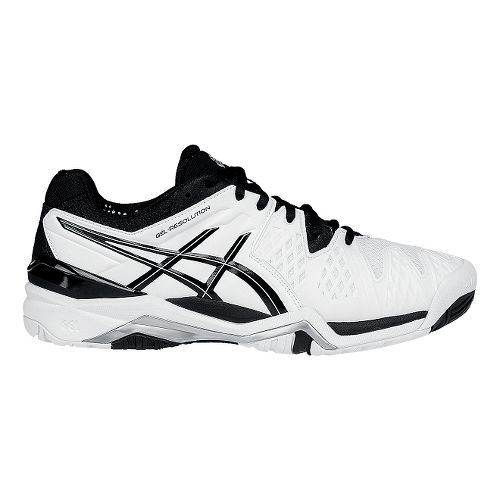 Mens ASICS GEL-Resolution 6 Court Shoe - White/Black 10