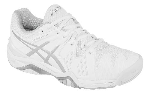 Womens ASICS GEL-Resolution 6 Court Shoe - White/Silver 7.5