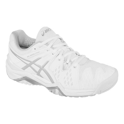 Womens ASICS GEL-Resolution 6 Court Shoe - White/Silver 11.5