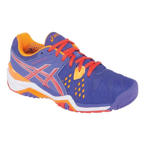Womens ASICS GEL-Resolution 6 Court Shoe - Lavender/Nectarine 5