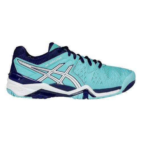 Womens ASICS GEL-Resolution 6 Court Shoe - White/Silver 11.5