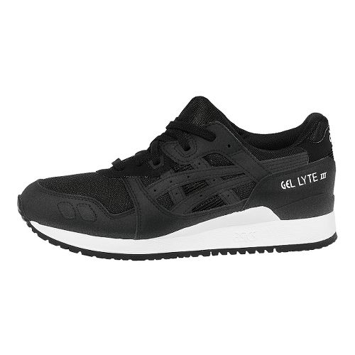 Mens ASICS GEL-Lyte III Casual Shoe - Black/Black 11.5