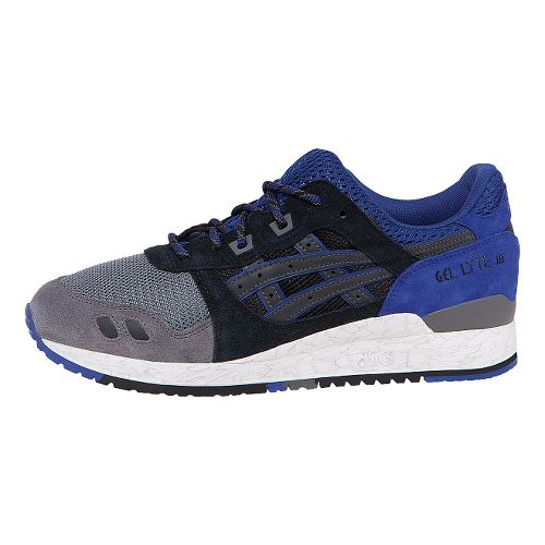 Mens ASICS GEL-Lyte III Casual Shoe - Blue/Black 8